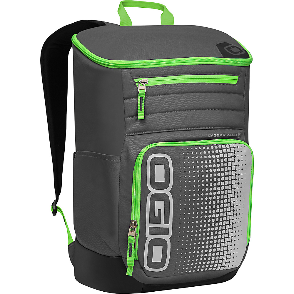 Рюкзак городской OGIO Active. C4 Sport Pack (A/S), цвет: темно-серый, салатовый. 031652226883031652226883Городской рюкзак OGIO Active. C4 Sport Pack (A/S) - это удобнейший рюкзак для занятий спортом с огромным основным отделением и несколькими внешними карманами. Туда поместится экипировка практически для любого вида спорта. Рюкзак оснащен ручкой для переноски, двумя регулируемыми плечевыми ремнями. Имеются четыре наружных кармана (два из них на молнии и два - без застежки), одно объемное отделение с застежкой на молнию и три внутренних кармана без застежки.OGIO - высокотехнологичный продукт от американского производителя. Вместимые сумки для путешествий, работы и отдыха, специальная коллекция городских сумок для женщин, жесткие боксы под мелкий инвентарь и многое другое.