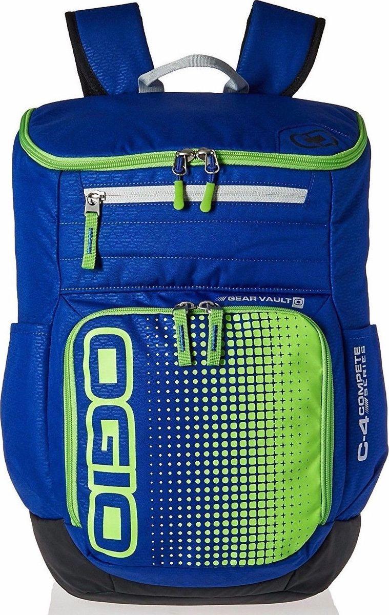 Рюкзак городской OGIO Active. C4 Sport Pack (A/S), цвет: синий, салатовый. 031652226906031652226906Городской рюкзак OGIO Active. C4 Sport Pack (A/S) - это удобнейший рюкзак для занятий спортом с огромным основным отделением и несколькими внешними карманами. Туда поместится экипировка практически для любого вида спорта. Рюкзак оснащен ручкой для переноски, двумя регулируемыми плечевыми ремнями. Имеются четыре наружных кармана (два из них на молнии и два - без застежки), одно объемное отделение с застежкой на молнию и три внутренних кармана без застежки.OGIO - высокотехнологичный продукт от американского производителя. Вместимые сумки для путешествий, работы и отдыха, специальная коллекция городских сумок для женщин, жесткие боксы под мелкий инвентарь и многое другое.