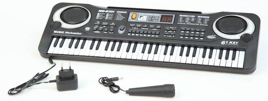 MQ Синтезатор с микрофоном цвет черный купить готовый свадебный салон в москве