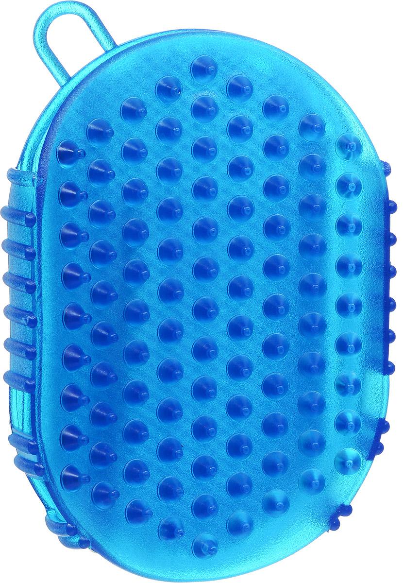 Массажер-варежка Дельтатерм Варюша, цвет: темно-синий массажер дельтатерм дельфин цвет оранжевый