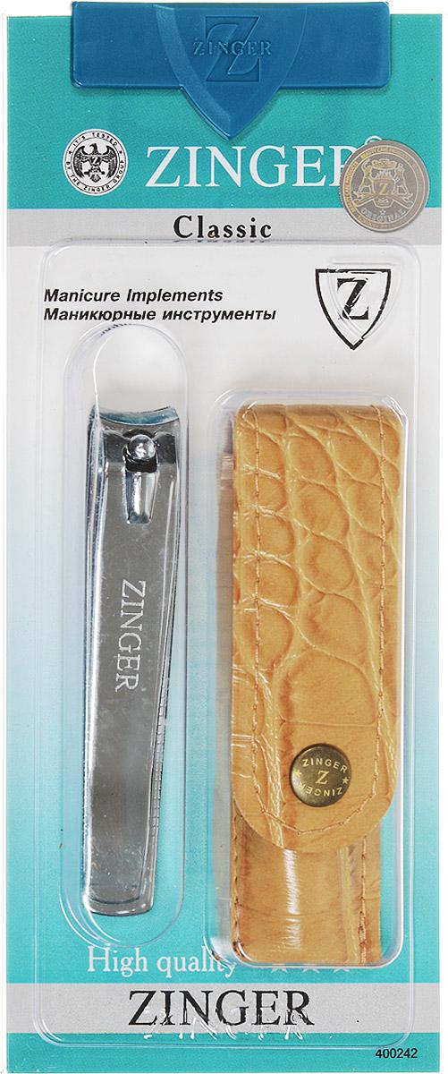 Zinger Книпсер с чехлом из искусственной кожи, цвет чехла: бежевый. zo-SIS-48-2SIS-48-2_бежевый чехолКнипсер с чехлом из искусственной кожи.