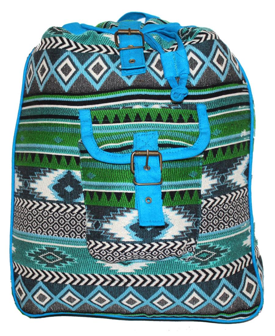 Сумка-рюкзак женская Ethnica, цвет: бирюзовый. 199325 oiwas ноутбук рюкзак водонепроницаемый большой сумка сумка бизнес стиль рюкзак ноутбук таблетка защитная сумка