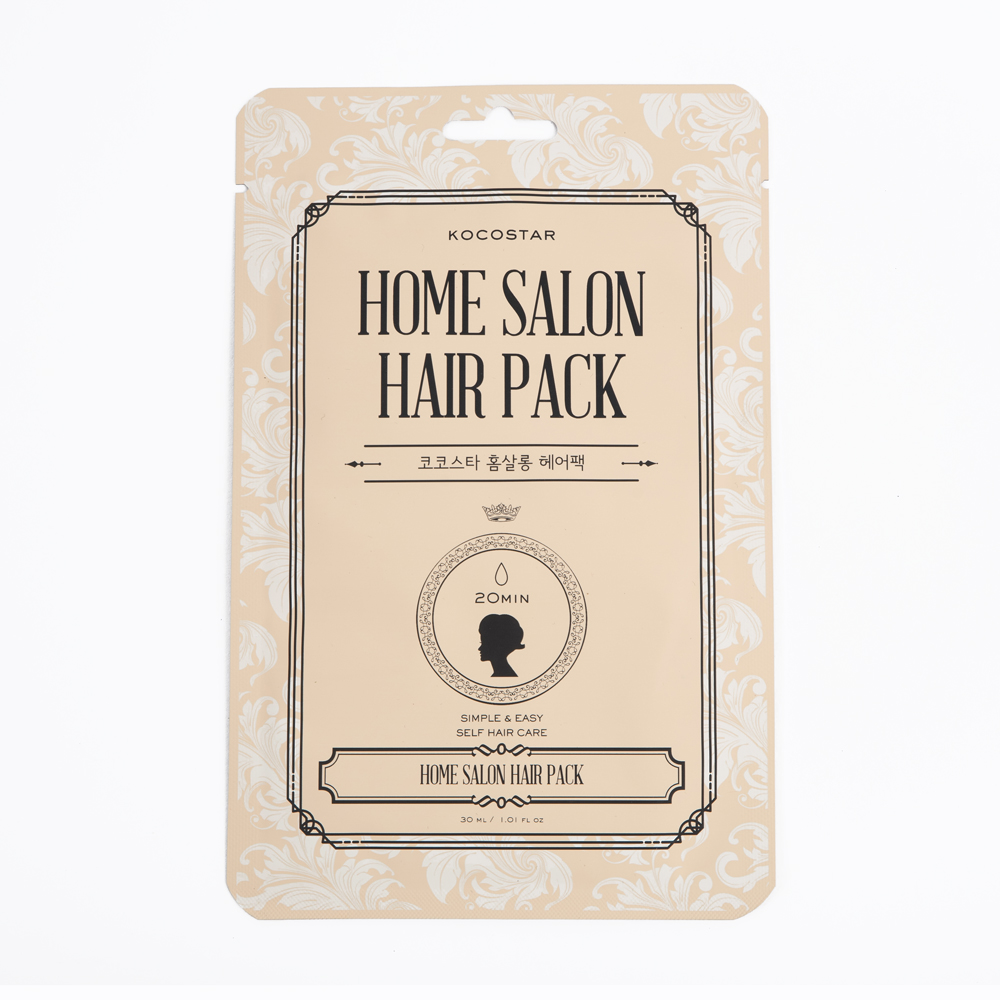 Kocostar Восстанавливающая маска для волос, 16 мл / Home Salon Hair Pack kocostar маска восстанавливающая для поврежденных волос конский хвост ggong ji hair pack 8 мл