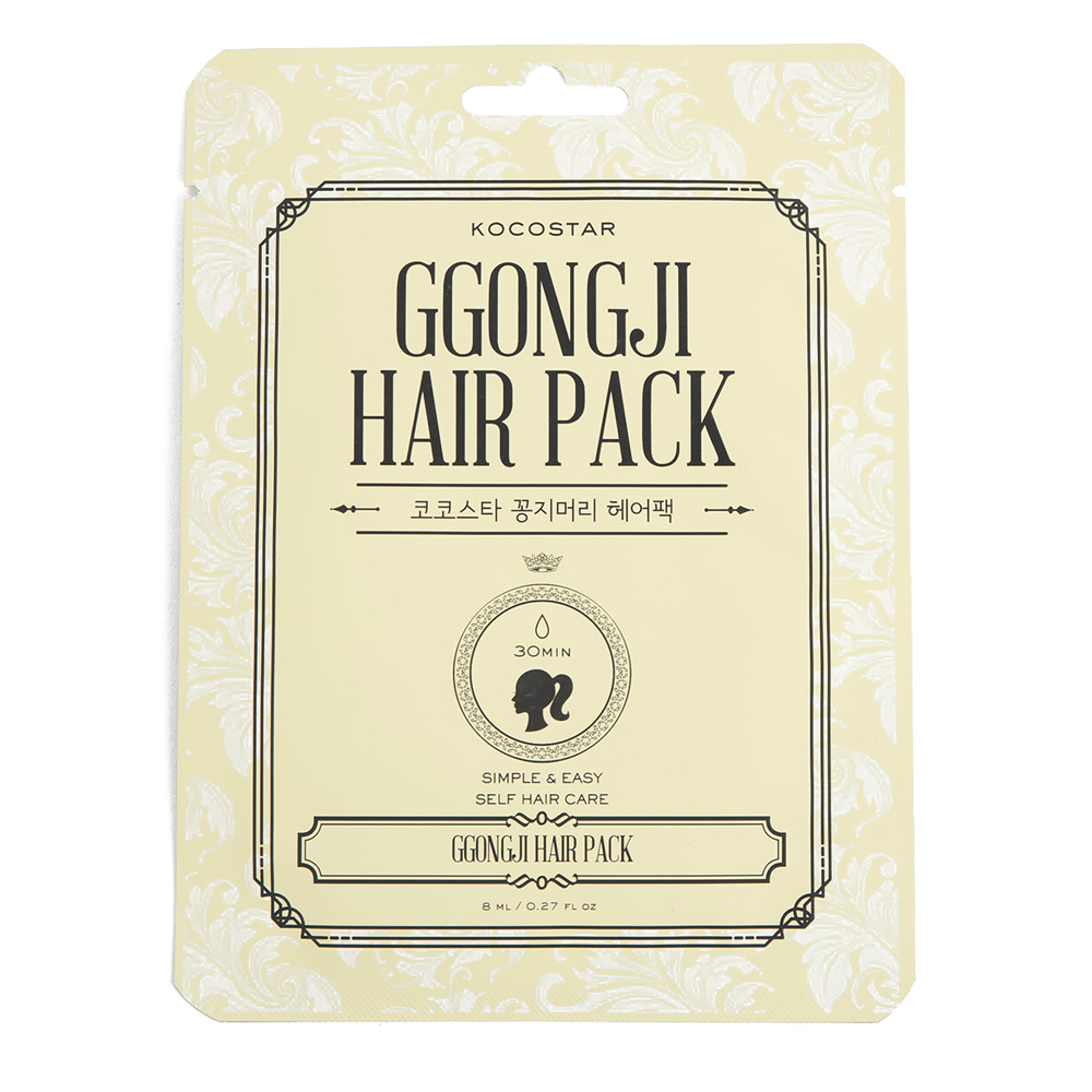 Kocostar Восстанавливающая маска для поврежденных волос Конский хвост, 8 мл/ Ggongji Hair Pack20-0008НЕТ секущимся кончикам! Чрезвычайно эффективный уход для поврежденных и ослабленных волос. Формула несмываемой маски обогащена полезными микроэлементами и экстрактами. Драгоценные масла Арганы и Оливы глубоко напитают волосы, а протеины Кератина восстановят их структру, придавая им гладкость и роскошный блеск. Удобная упаковка-пакет в форме «конского хвоста» , пропитанная изнутри средством, делает процедуру удобной и комфортной.