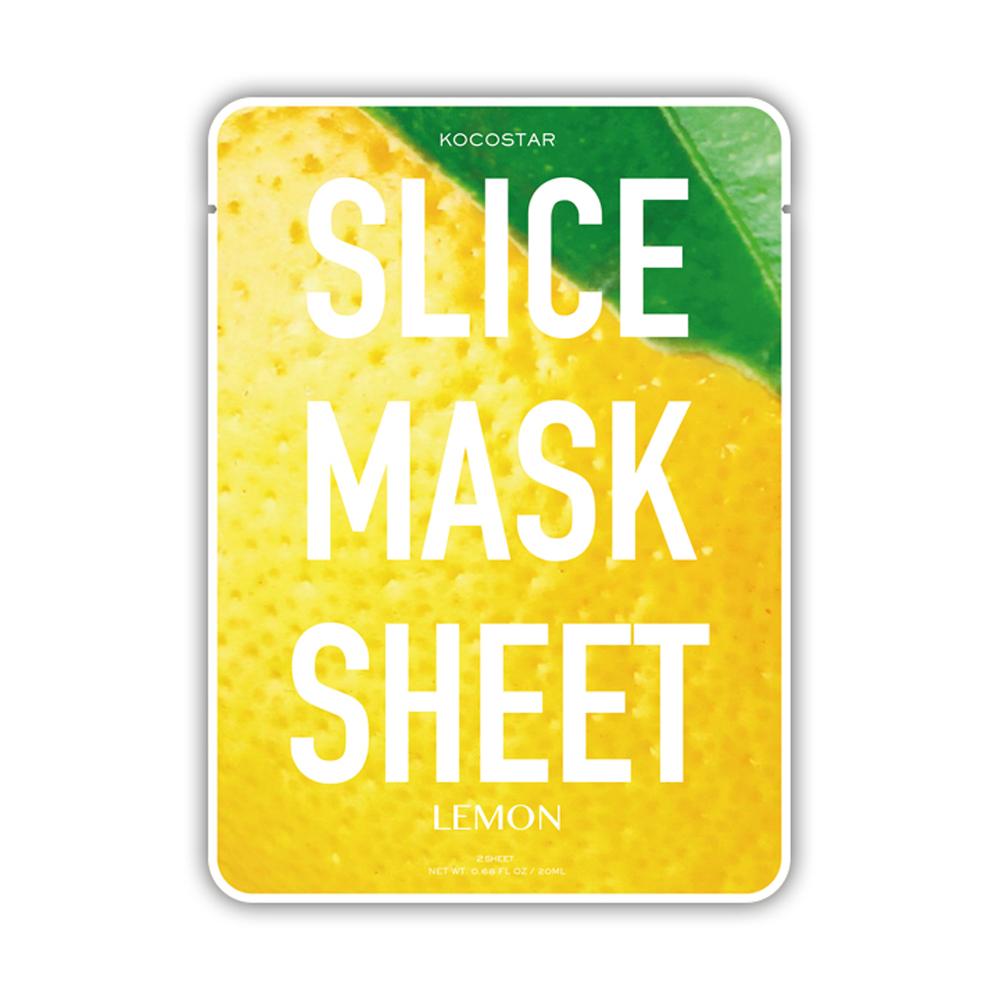 Kocostar Маска-слайс для лица Лимон, 20 мл / Slice Mask Sheet (Lemon)20-0011Тусклый безжизненный цвет лица? Пора детокса и увлажнения!Оригинальная и очень эффективная маска в виде ломтиков сочного лимона специально разработана для улучшения тона кожи и здорового сияния. Экстракт лимона, обладающий антиоксидантным воздействием, за счет высого содержания витамина С отбеливает кожу, а аромат лимона заряжает энергией и свежестью! Маска-слайс содержит гиалуроновую кислоту и коллаген, которые обеспечивают глубокое увлажнение и активацию защитных свойств кожи. Слайсы подходят для всех типов кожи, кроме чувствительной.