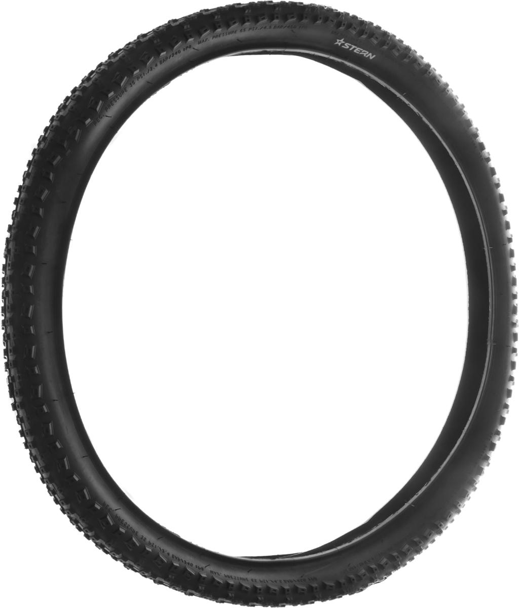 """Покрышка """"Stern"""" подойдет для взрослых велосипедов с диаметром колеса 26 дюймов. Изделие выполнено из резины и имеет оригинальный рисунок протектора, который позволяет использовать покрышки как в городе, так и на загородных участках. Ширина покрышки: 2,1""""."""