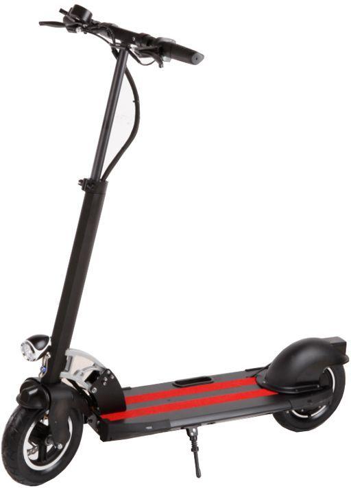 Электросамокат Larsen, цвет: черный, красный. ZF5342255Электросамокат Larsen идеально подойдет для начинающих любителей езды.Характеристики:Материал колес: резина Размер колес: 10 Максимальная масса пользователя: 120 кг Размер: 110 х 24 х 80-120 см Двигатель: 36V/350W Батарея: Li-ion 36V/10,8Ah Максимальная скорость: 30 км/ч (3 режима, 15-20 км/ч, 20-25 км/ч, 25-30 км/ч) Время полной зарядки: 6-8 ч Максимальная дистанция: 30-35 км.Вес: 16 кг.