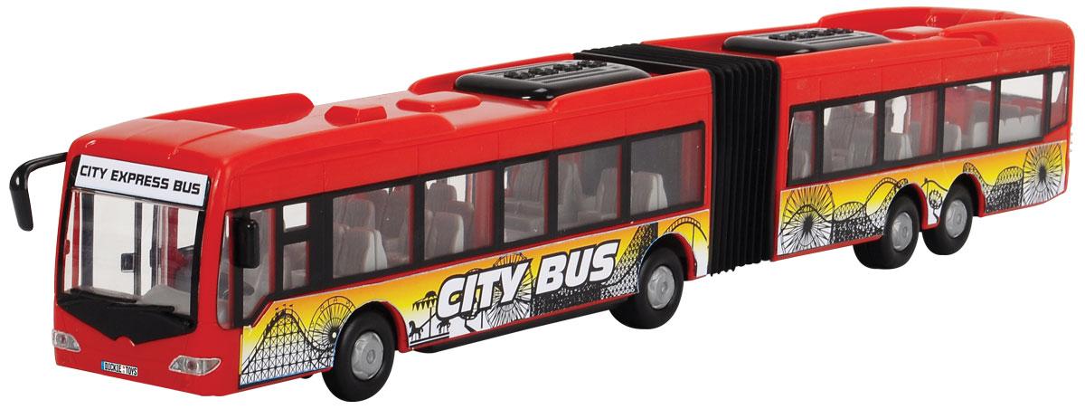 Dickie Toys Автобус-экспресс инерционный цвет красный dickie toys городской трамвай