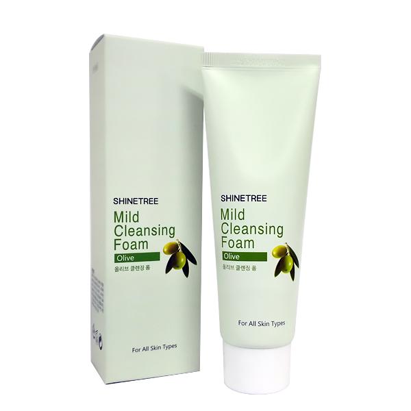 Shinetree Мягкая очищающая пенка с оливковым маслом, Шайнтри Mild Cleansing Foam – Olive-, 80 мл647469