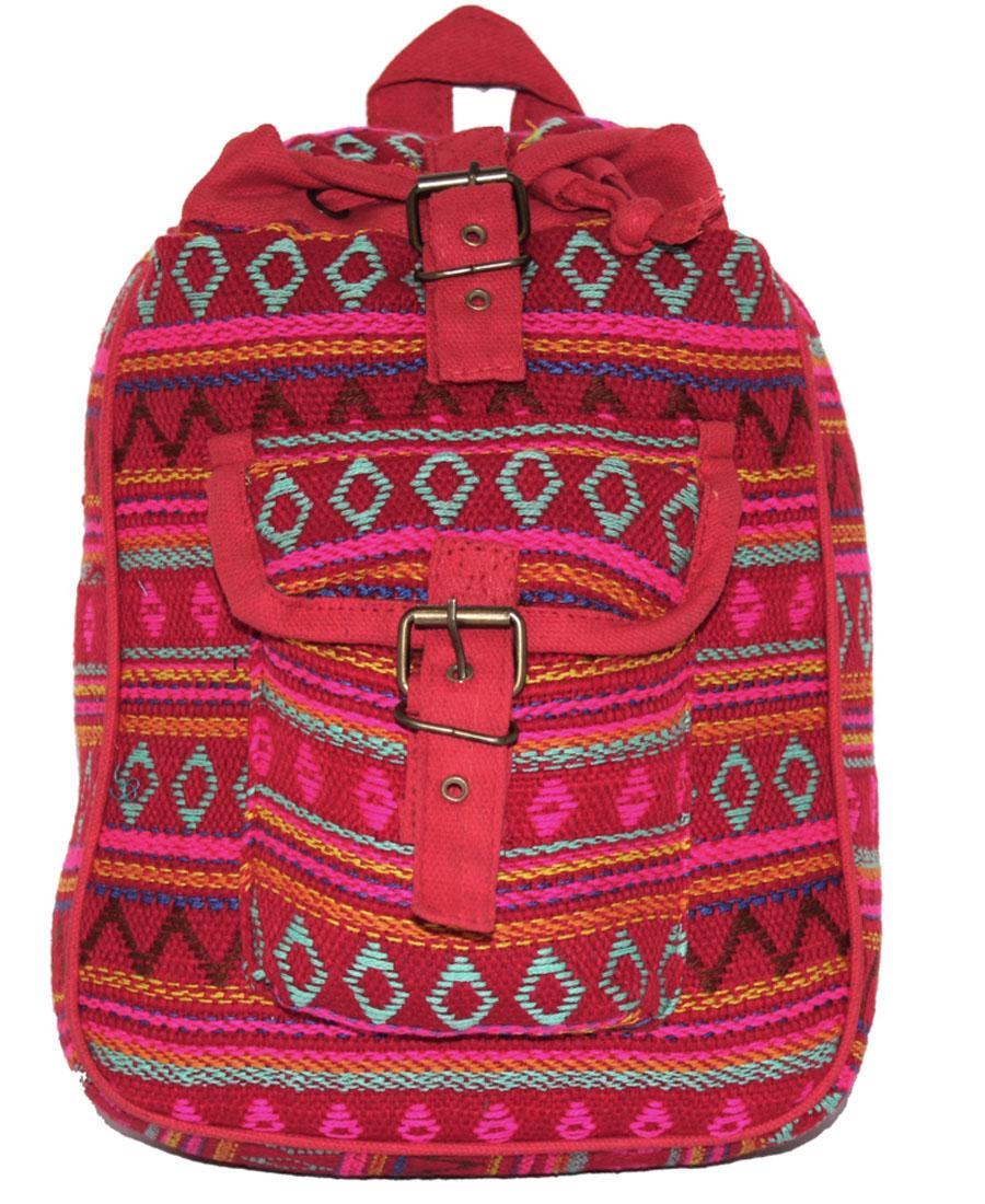 Сумка-рюкзак женская Ethnica, цвет: малиновый. 197180 oiwas ноутбук рюкзак водонепроницаемый большой сумка сумка бизнес стиль рюкзак ноутбук таблетка защитная сумка