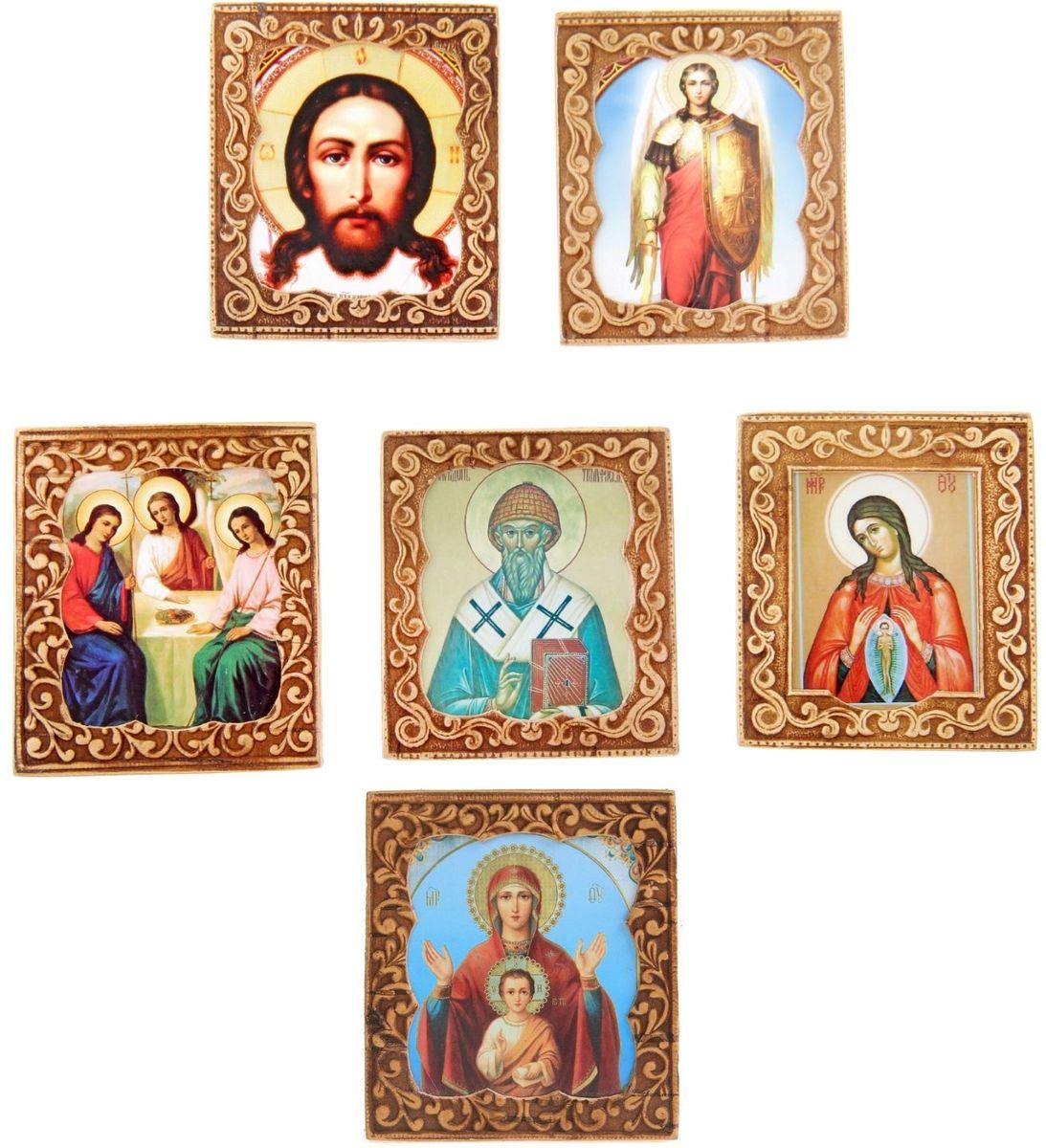 Икона Sima-land Споручница грешных, 6 х 6,5 см икона святой никита