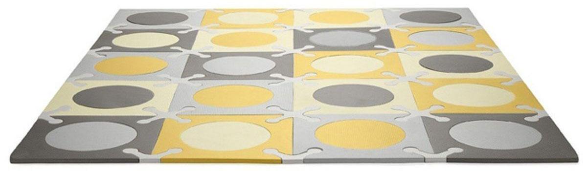 Skip Hop Напольный коврик-пазл цвет желтый серый