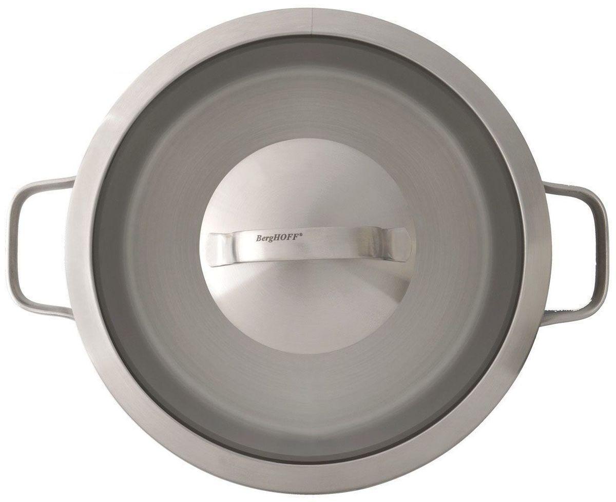 Сотейник из нержавеющей стали. Диаметр - 24 см. Объем 3 л. У сотейника две ручки. Сотейник подходит для всех видов плит.