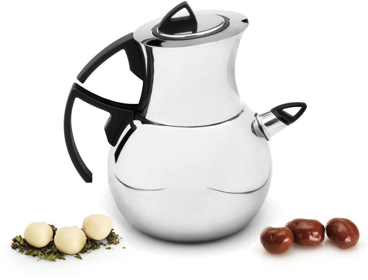 Набор чайный BergHOFF Zeno. 11008141100814Концепция этого чайного набора основана на традиционном способе заваривания чая: с нижним чайником, наполненным водой и верхним, с завариваемым чаем.Оба они разогреваются на плите, пока вода не закипит. Чай в верхнем чайнике готов, его можно разлить по чашкам. Кипяченая же вода может быть использована для разбавления слишком крепкого чая. Два элемента этого чайного набора, чайник со свистком и заварочный чайник, так что незаметно, что это отдельные предметы. Фильтр внутри верхнего чайника позволяет избежать попадания чайных листов в чашку. Состав набора: - чайник со свистком 17 х 25,5 х 13,5 см., - заварочный чайник 13 х 18,5 х 11 см., - фильтр 6,5 х 8,5 см.