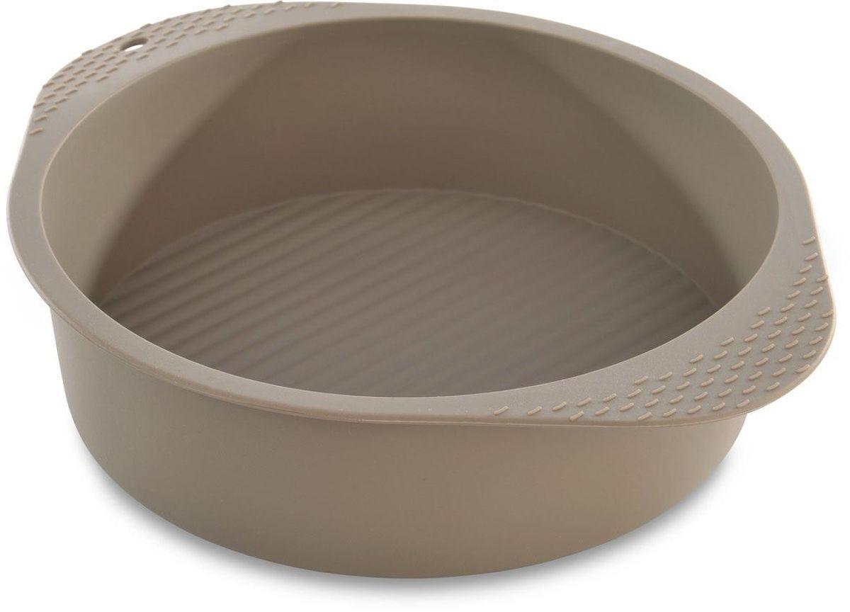 Форма для запекания BergHOFF Studio, силиконовая, диаметр 22,5 см1101857Круглая форма для запекания BergHOFF Studio выполнена из высококачественного пищевого силикона. Идеально подходит для приготовления выпечки, десертов и холодных закусок. Форма обладает естественными антипригарными свойствами. Не выделяет вредных веществ при высоких температурах.Подходит для использования в СВЧ печи и духовом шкафу.Можно мыть в посудомоечной машине.Внутренний диаметр формы: 22,5 см. Размер формы (с учетом ручек): 27,5 х 22,5 х 6,5 см.
