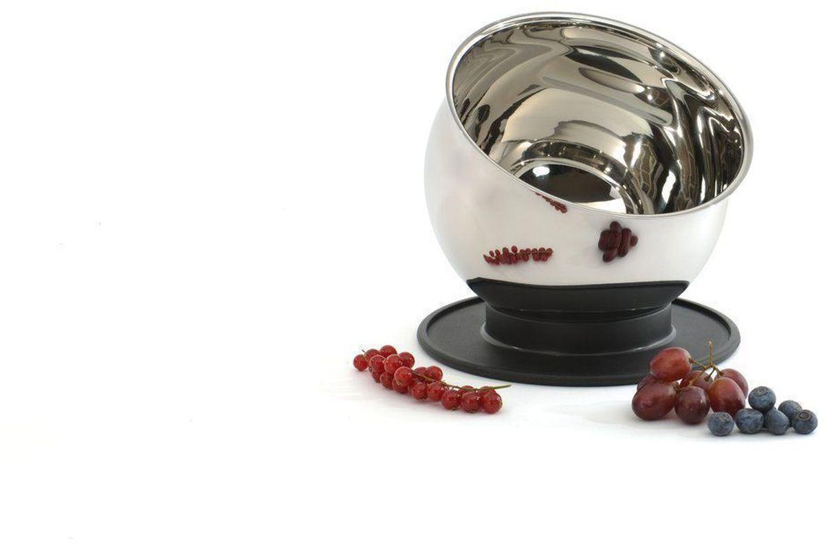 """Миска для смешивания BergHOFF """"Zeno"""" – удобная миска, выполненная из нержавеющей стали 18/10, толщиной 0,8 мм. Пользоваться ей одно  удовольствие. Благодаря крышке, которую можно использовать в качестве подставки, вы не просто сможете охлаждать или хранить в  холодильнике содержимое миски, но так же оставлять миску под любым углом, который вам понравится. Миска имеет зеркальную полировку внутри и снаружи. Диаметр: 16 см. Объем: 1,7 л."""