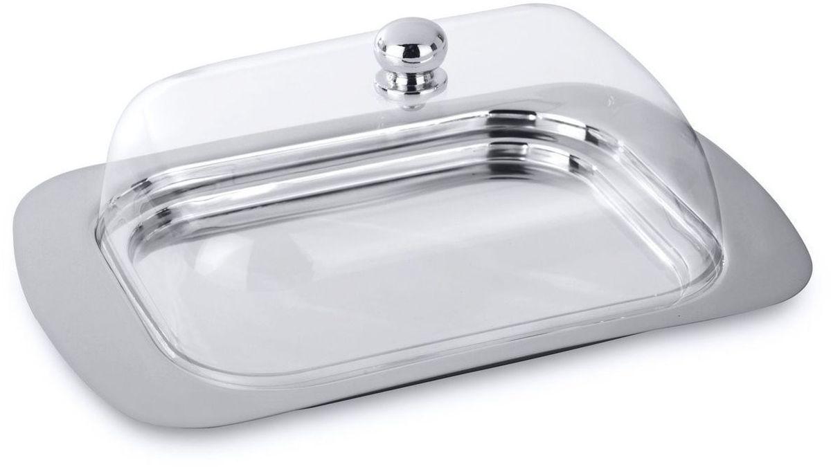Масленка BergHOFF Straight, цвет: прозрачный, металлик, 18,5 х 12 х 7 см1106280Масленка BergHOFF Straight изготовлена из высококачественной нержавеющей стали. Изделие предназначено для красивой сервировки и хранения масла. Она состоит из подноса и акриловой крышки с ручкой. Масло в ней долго остается свежим, а при хранении в холодильнике не впитывает посторонние запахи.Можно мыть в посудомоечной машине.Размер масленки: 18,5 х 12 х 7 см.