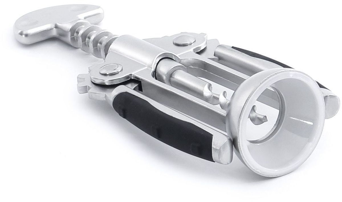 Штопор BergHOFF Cubo, цвет: металлик, черный, 17,5 см1107844Штопор BergHOFF Cubo, выполненный из сплава цинка с резиновым покрытием, оснащен рычажным механизмом. Благодаря рычагу вам не нужно прилагать много усилий, чтобы вытащить пробку из бутылки.Удобные нескользящие ручки с резиновыми вставками обеспечивают максимальный комфорт при использовании предмета.Эстетичный и функциональный штопор BergHOFF Cubo займет достойное место среди аксессуаров на вашей кухне и позволит вам открыть любую бутылку без особого труда.Рекомендуется мыть вручную. Размер штопора: 17,5 см х 6,5 см х 4 см.