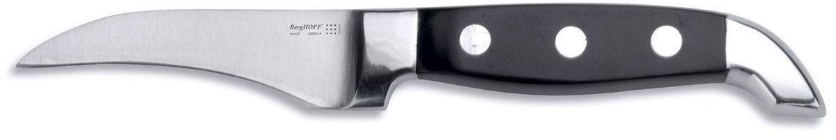 Нож для очистки BergHOFF Orion, длина лезвия 8 см1301754Нож для очистки BergHOFF Orion выполнен из кованной высококачественной нержавеющей стали, устойчив к пятнам и коррозии. Ручка с тройной клепкой и формой, повышающей комфорт и безопасность захвата. Тяжелая кованая шейка обеспечивает идеальный баланс и безопасность для рук.Нож используется для чистки овощей и фруктов, приготовления гарниров и салатов. Также применяется для отделения костей в птице или рыбе.Нож для очистки BergHOFF Orion предоставит вам все необходимые возможности в успешном приготовлении пищи и порадует вас своими результатами. Рекомендуется мыть вручную. Общая длина ножа: 19,5 см.