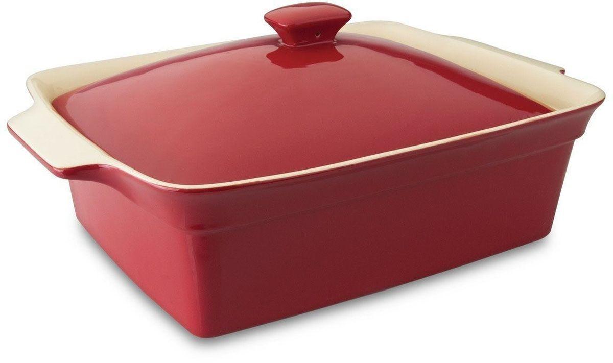 Блюдо для запекания BergHOFF Geminis, прямоугольное, с крышкой, 37 х 26 х 15 см. 16951981695198Прямоугольное блюдо для выпечки BergHOFF Geminis изготовлено из жаропрочной глазурованной керамики, что обеспечивает оптимальное распределение тепла. Оно может быть использовано как для запекания различных блюд, так и подачи их на стол. Блюдо станет отличным дополнением к вашему кухонному инвентарю, а также украсит сервировку стола и подчеркнет ваш прекрасный вкус. Подходит для использования в СВЧ и духовом шкафу. Можно мыть в посудомоечной машине.