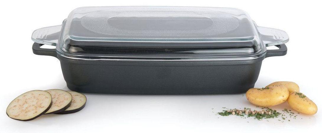 Конструкция дна делает возможным энергоэффективное приготовление пищи и равномерное распределение тепла по всей поверхности. Крышка из закаленного стекла сохраняет влагу внутри и позволяет наблюдать за процессом приготовления.