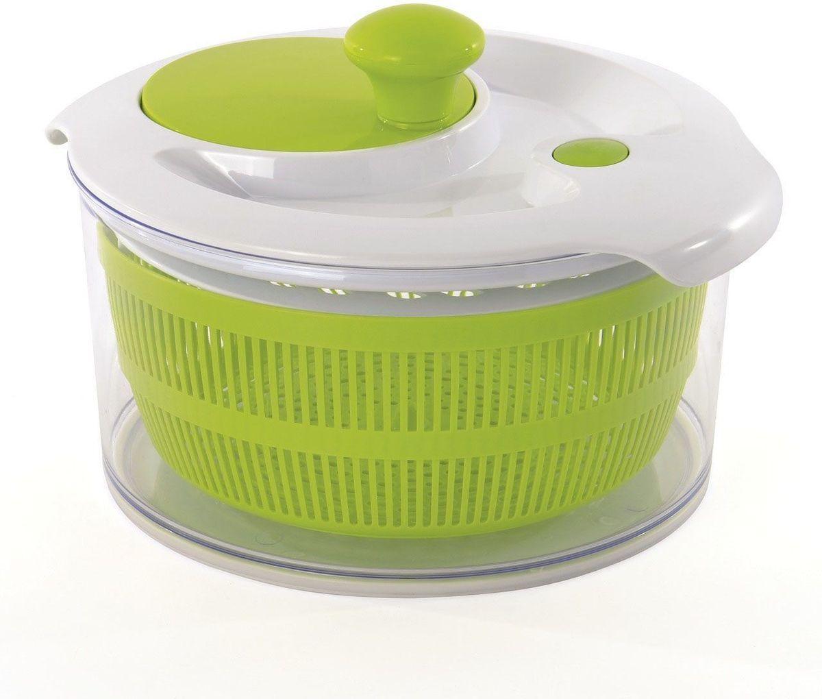 Набор для приготовления салата Cook&Co (миска, сушилка, измельчитель)2800111Помимо сушки зелени эта уникальная сушилка Cook&Co позволяет резать и измельчать овощи прямо в ваш салат. Встроенная крышка-мандолина предназначена для нарезания и измельчения овощей и сыра прямо в миску. Измельчитель имеет 2 съемных лезвия. Ручка с удобным захватом. Нескользящее основание. Легко вращающаяся ручка не требует усилий при сушке.Объем миски: 4,7 л.