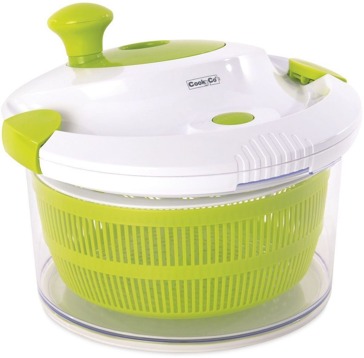 Сушилка для салата Cook&Co,28001222800122Подходит для мытья и сушки салатной зелени, фруктов и овощей. Легко вращающаяся ручка. Зажимы на крышке обеспечивают безопасную сушку. Прозрачное основание может быть использовано для сервировки. Кнопка быстрой остановки . Миска 4,7 л. Имеет нескользящее основание. Подходит для мытья в посудомоечной машине.