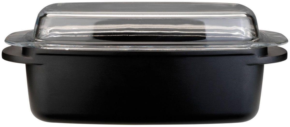 Гусятница BergHOFF CooknCo, 32 х 21 х 11 см, 5,4 л. 28013522801352Прямоугольная гусятница BergHOFF имеет антипригарное покрытие green ceramic Cast line. Снаружи покрыта жаропрочным лаком. Прямоугольная крышка, выполненная из огнеупорного стекла, позволяет использовать жаровню в духовке, а также в качестве сервировочного блюда. Жаровня выполнена из литого алюминия, полностью повторяющего эффект приготовления в чугуне, при этом в несколько раз легче по весу.Длина: 32 см.Объем: 5,4 л.