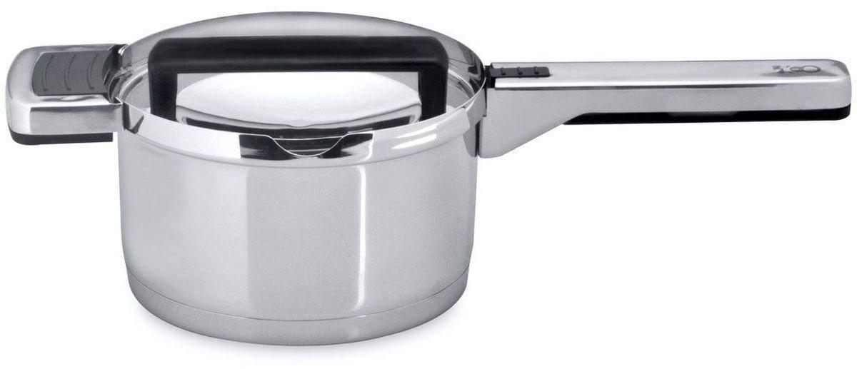 Ковш BergHOFF Neo, с крышкой, 1,7 л, 16 см. 35013673501367Ковш BergHOFF Neo выполнен из нержавеющей стали. Идеален для варки и тушения с минимальным количеством жира (масла).