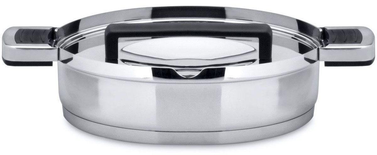 Сотейник BergHOFF Neo, с двумя ручками, 2,4 л, 24 см. 35013813501381Сотейник в современном стиле. Сотейник из алюминия. Диаметр - 24 см. Объем 2,4 л. У сотейника две ручки. Сотейник подходит для всех видов плит.