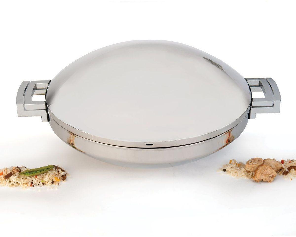 Вок BergHOFF Neo, с крышкой, 6,8 л, 36 см. 35013983501398Вок BergHOFF Neo - суперстильный дизайн. Высокое качество нержавеющей стали 18/10 для дополнительной прочности и гигиены.Дно предназначено для энергоэффективного приготовления пищи и передачи тепла по всей поверхности.