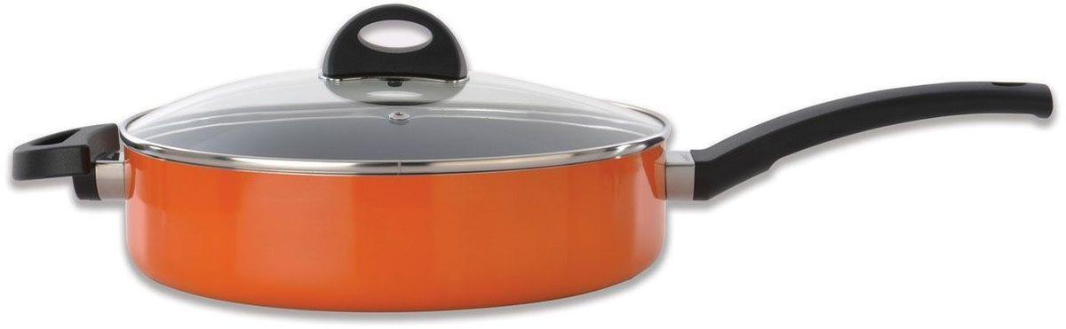 Сотейник BergHOFF Eclipse, 3,2 л, 26 см, цвет: оранжевый. 37001603700160Сотейник из алюминия. Диаметр - 26 см, объем 3,2 л. У сотейника две ручки разной длины. Сотейник подходит для всех видов плит.