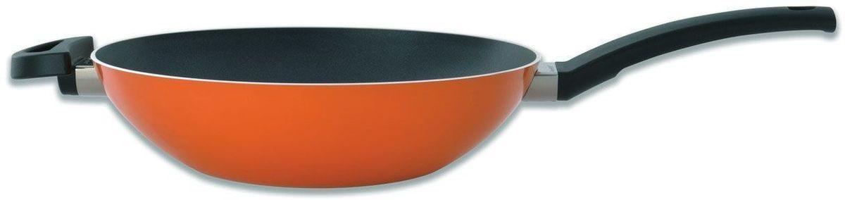 Сковорода-вок BergHOFF Eclipse, с антипригарным покрытием, цвет: оранжевый. Диаметр 28 см. 37001623700162Сковорода-вок BergHOFF Eclipse с антипригарным покрытием оживит вашу кухню оранжевым цветом. Сохраните цвет, вкус и текстуру ингредиентов, обжаривая их в этом воке. Прочная и простая в использовании сковорода с быстрым и равномерным распределением тепла. Конструкция дна делает возможным энергоэффективное приготовление пищи и равномерное распределение тепла по всей поверхности. Многослойное и армированное, свободное от ПФОК антипригарное покрытие для удобного извлечения пищи и легкой чистки. Не содержит ни свинца, ни кадмия. Антипригарное покрытие идеально для здорового приготовления пищи: используйте так мало масла, как вы хотите.Не нагревающиеся ручки для дополнительного комфорта и безопасности. Объем: 3,2 л. Диаметр: 28 см.