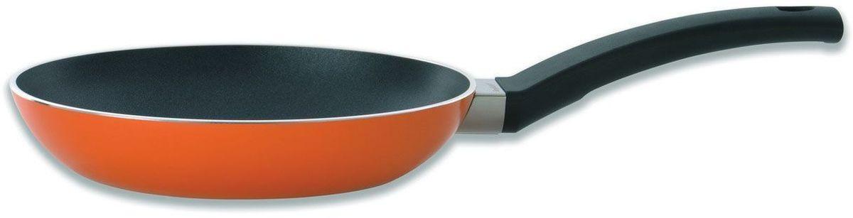 Сковорода BergHOFF Eclipse, 1 л, 20 см, цвет: оранжевый. 37001633700163Сковорода BergHOFF Eclipse - это сковорода красного цвета из высококачественного алюминия с ручками из бакелита. Запатентованная конструкция дна FlowerBase гарантирует создание равномерной контактной поверхности между сковородой или кастрюлей и рабочей зоной конфорки. Прочное дно с антидеформационным диском не позволит посуде деформироваться что существенно увеличит ее строк эксплуатации. Новейшее 3-х слойное запатентованное покрытие FernoGreen от ТМ BergHOFF, выполнено из экологически чистых материалов, не содержащих в своем составе ПФОК - перфтороктановой кислоты свинца и кадмия. Все 3 слоя выполнены из сверх прочных материалов. FernoGreen, отличается от аналогов долговечностью, имеет прекрасные антипригарные свойства. Экологически чистое покрытие FernoGreen это гарантия того, что Вы всегда получите здоровую пищу без особых усилий. Сковорода подходит для всех типов плит. Не рекомендуется мыть в посудомоечной машине.