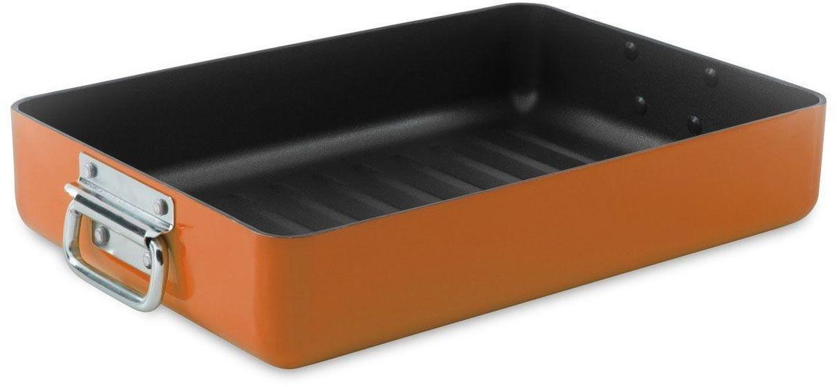 Противень BergHOFF Eclipse, 44,5 х 25 х 7 см, 5,6 л, цвет: оранжевый. 37001683700168Противень BergHOFF Eclipse выполнен из алюминия свнутренним антиприкагным покрытием. Отличноподходит для запекания мяса, рыбы, лазаньи, запеканок. Изделие равномерно и быстро прогревается, чтоспособствует лучшему просеканию пищи. Изделие оснащено ручками.Подходит для использования в духовом шкафу. Внешний размер противня (без учета ручек): 44,5 х 25 х 7 см.