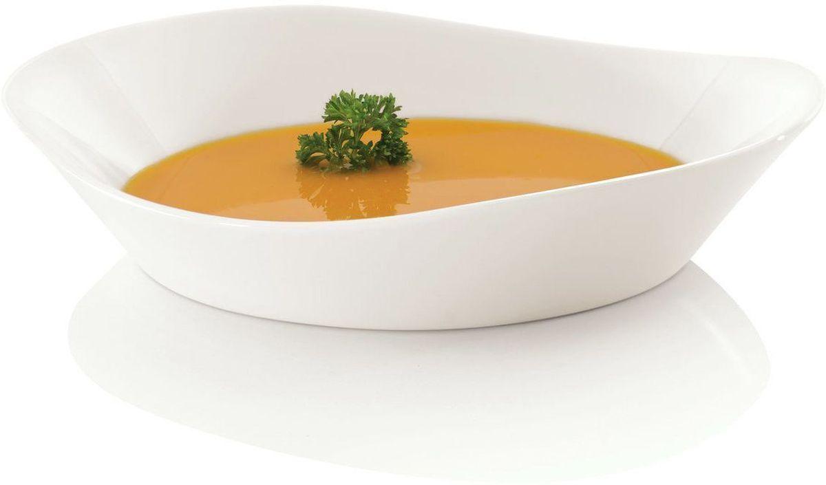 Тарелка сервировочная BergHOFF Eclipse, цвет: белый, 20 х 18,5 см, 4 шт3700430Сервировочная тарелка BergHOFF Eclipse с высоким бортиком выполнена из высококачественного фарфора однотонного цвета и прекрасно подойдет для вашей кухни. Такая тарелка изысканно украсит сервировку как обеденного, так и праздничного стола. Предназначена для подачи вторых блюд. Пригодна для использования в микроволновой печи. Можно мыть в посудомоечной машине.Диаметр: 20 см х 18,5 см.Высота тарелки: от 3 см до 4 см.