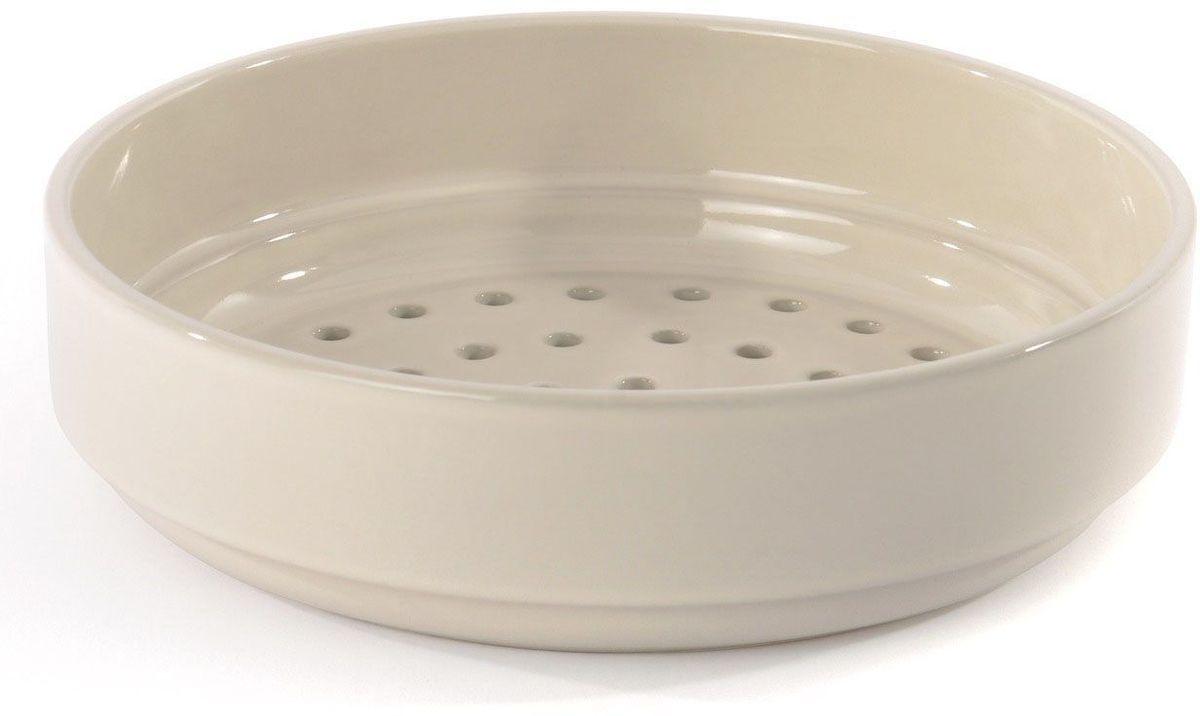 Вставка-пароварка BergHOFF Ron, 24 см. 39000513900051Вставка-пароварка BergHOFF Ron изготовлена из высококачественной керамики. Дно вставки оснащено отверстиями для пропуска пара. Поверхность легко моется и не подвергается окислению. Можно мыть в посудомоечной машине.