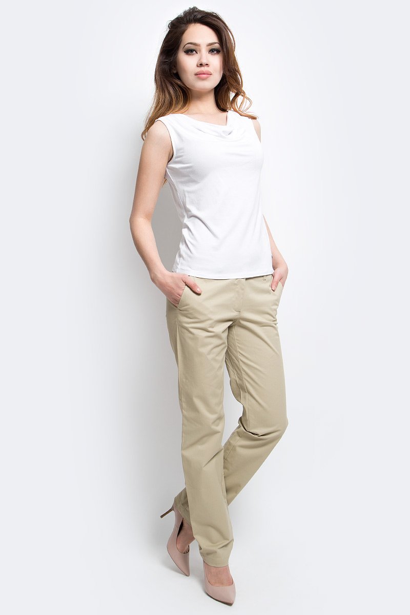Майка женская Finn Flare, цвет: белый. S17-11087_201. Размер XL (50)S17-11087_201Майка женская Finn Flare выполнена из вискозы и эластана. Модель с круглым вырезом горловины.