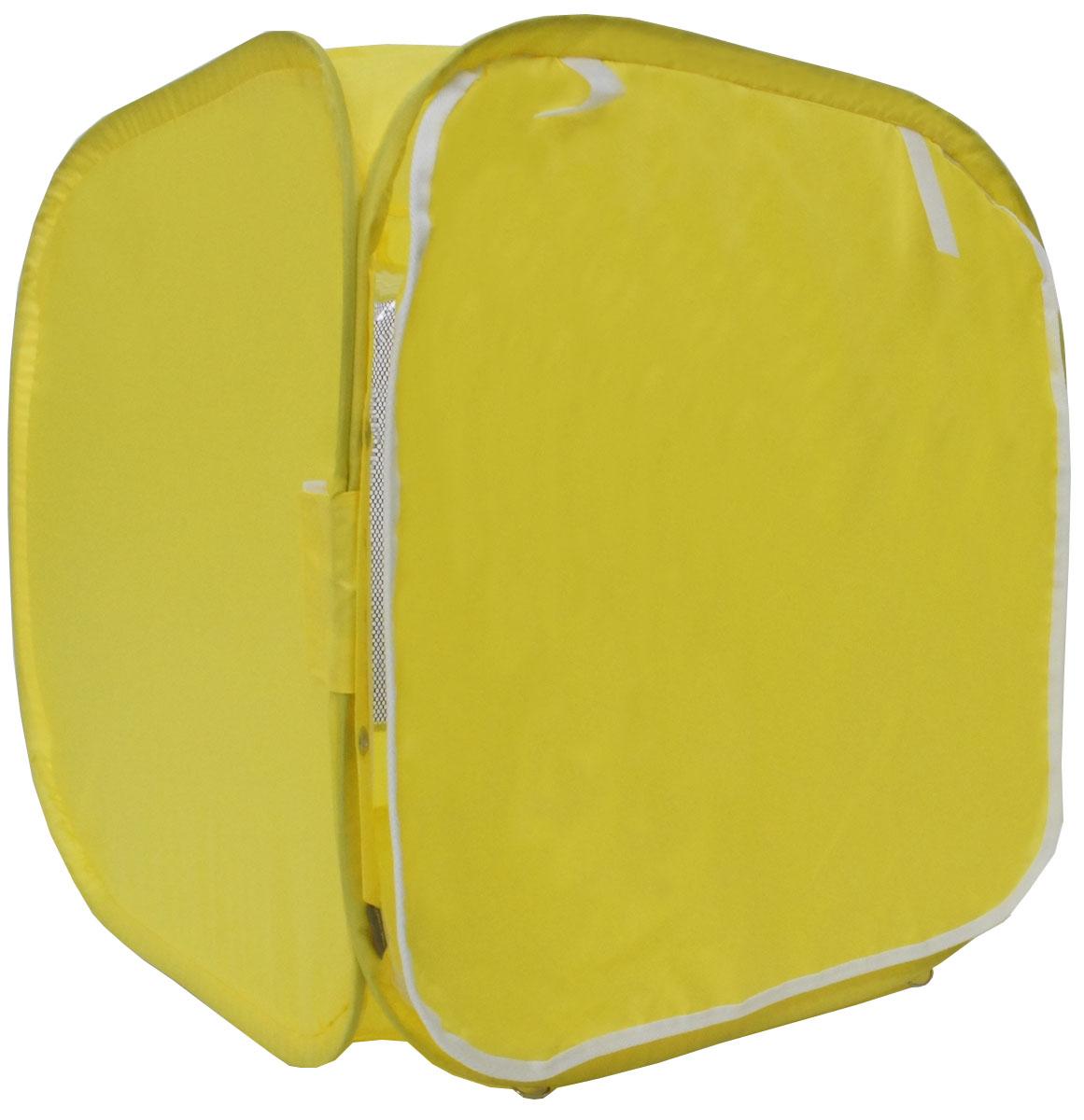Палатка для выставки животных  Шоу-Петс , цвет: желтый, 60 х 60 х 60 см. ПВЛ1Ж