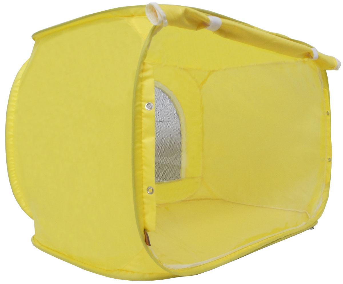 Палатка для выставки животных  Шоу-Петс , цвет: желтый, 80 х 60 х 60 см. ПВЛ1.5Ж