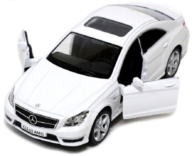Pitstop Машинка инерционная Mercedes-Benz CLS 63 AMG C218 цвет белый машина pitstop mercedes benz sls amg silver ps 0616307 s