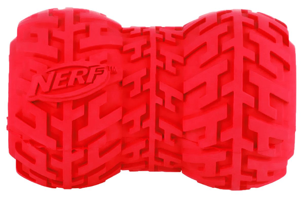 Игрушка-кормушка для собак Nerf Шина, цвет: красный, 9 см22484Игрушка Nerf имеет уникальный рисунок протектора шины.Подходит для собак с самой мощной челюстью. Высококачественные прочные материалы, из которых изготовлена игрушка, обеспечивают долговечность использования.Полость внутри предназначена для любимого лакомства вашего питомца.Яркие привлекательные цвета.Размер M: 9 см.