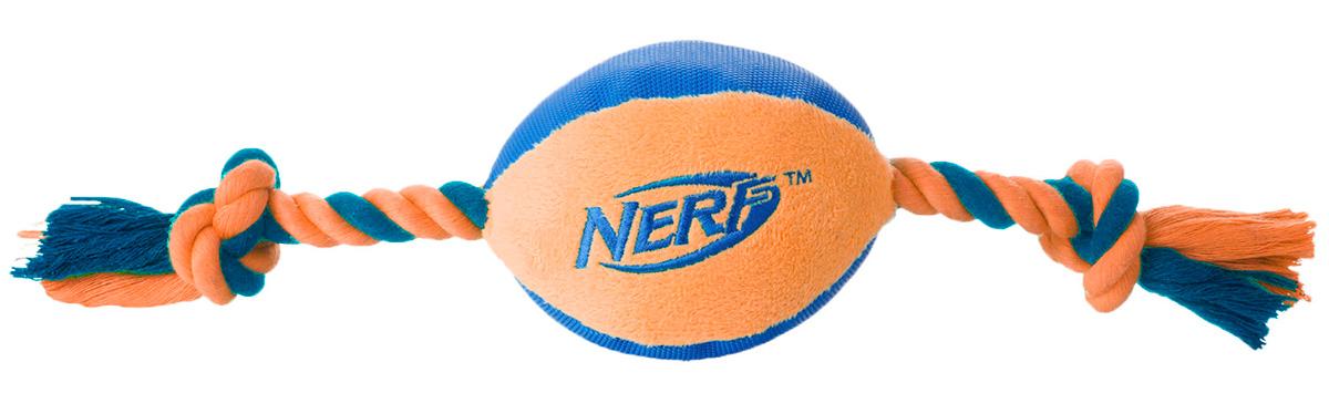 Игрушка для собак Nerf Мяч, плюшевый, с веревками, 37,5 см как нарисовать nerf