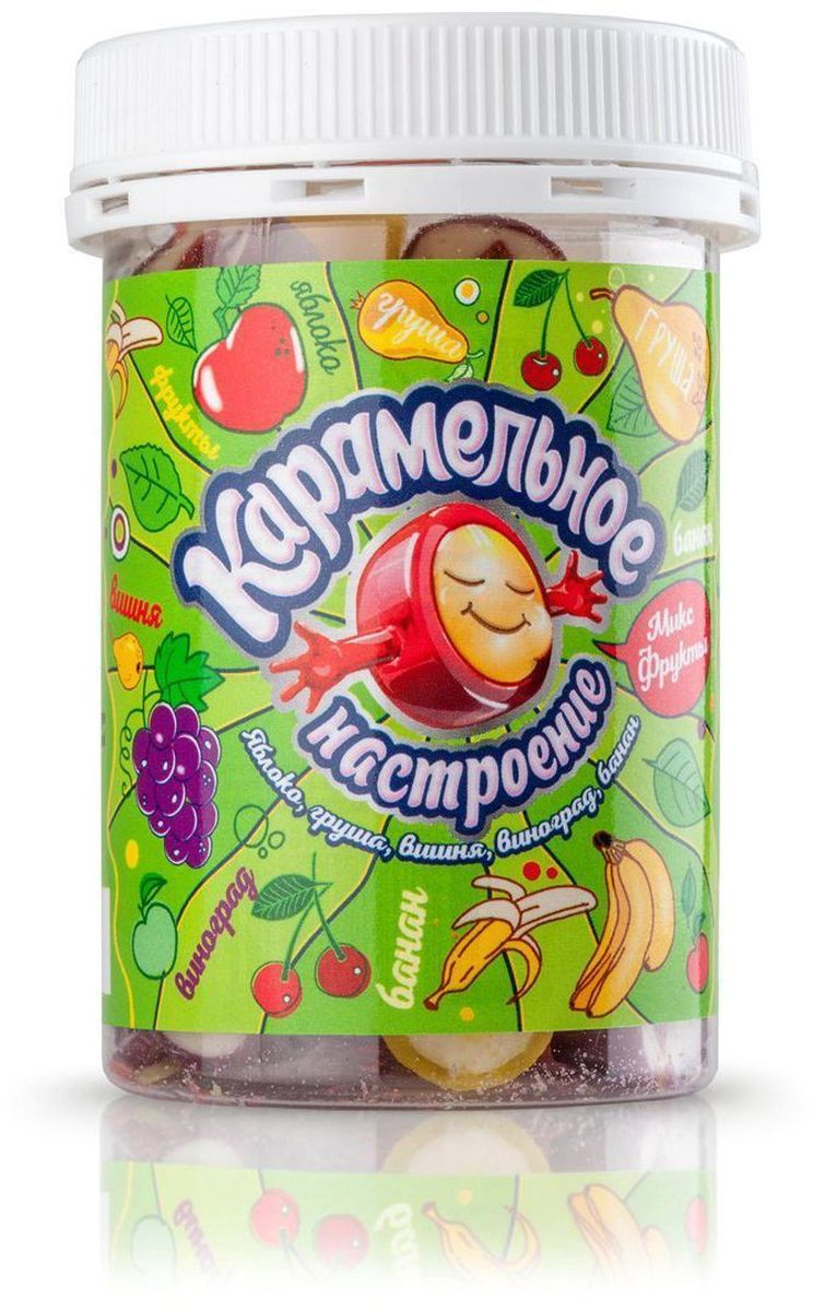 Карамельное настроение Фруктовый микс конфеты, 140 г halls карамель леденцовая со вкусом арбуза 12 пачек по 25 г