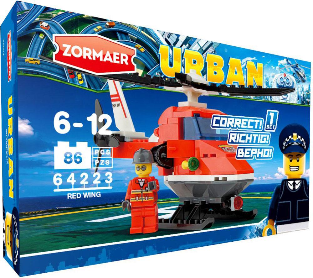 Zormaer Конструктор Вертолет Красное крыло конструктор конструктор забияка крокодил 1305717
