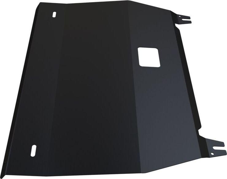 Защита картера и КПП Автоброня Hyundai Veloster 2012-, сталь 2 мм111.02328.1Защита картера и КПП Автоброня Hyundai Veloster, V - 1,6(132hp) 2012-, сталь 2 мм, комплект крепежа, 111.02328.1Стальные защиты Автоброня надежно защищают ваш автомобиль от повреждений при наезде на бордюры, выступающие канализационные люки, кромки поврежденного асфальта или при ремонте дорог, не говоря уже о загородных дорогах.- Имеют оптимальное соотношение цена-качество.- Спроектированы с учетом особенностей автомобиля, что делает установку удобной.- Защита устанавливается в штатные места кузова автомобиля.- Является надежной защитой для важных элементов на протяжении долгих лет.- Глубокий штамп дополнительно усиливает конструкцию защиты.- Подштамповка в местах крепления защищает крепеж от срезания.- Технологические отверстия там, где они необходимы для смены масла и слива воды, оборудованные заглушками, закрепленными на защите.Толщина стали 2 мм.В комплекте крепеж и инструкция по установке.Уважаемые клиенты!Обращаем ваше внимание на тот факт, что защита имеет форму, соответствующую модели данного автомобиля. Наличие глубокого штампа и лючков для смены фильтров/масла предусмотрено не на всех защитах. Фото служит для визуального восприятия товара.