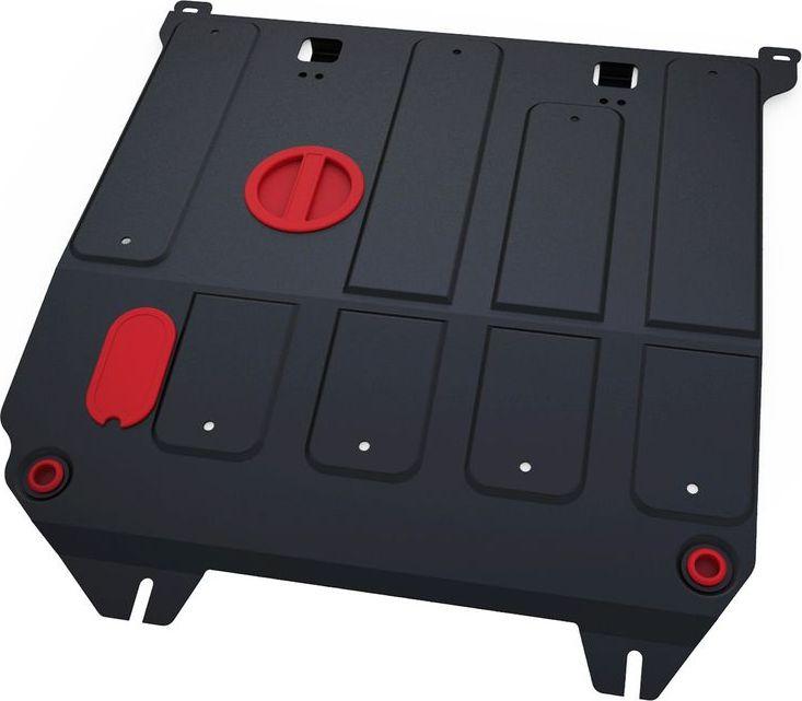 Защита картера и КПП Автоброня Haima M3 2014-, сталь 2 мм111.07003.1Защита картера и КПП Автоброня Haima M3 МКПП, V - 1.5 2014-, сталь 2 мм, комплект крепежа, 111.07003.1Стальные защиты Автоброня надежно защищают ваш автомобиль от повреждений при наезде на бордюры, выступающие канализационные люки, кромки поврежденного асфальта или при ремонте дорог, не говоря уже о загородных дорогах.- Имеют оптимальное соотношение цена-качество.- Спроектированы с учетом особенностей автомобиля, что делает установку удобной.- Защита устанавливается в штатные места кузова автомобиля.- Является надежной защитой для важных элементов на протяжении долгих лет.- Глубокий штамп дополнительно усиливает конструкцию защиты.- Подштамповка в местах крепления защищает крепеж от срезания.- Технологические отверстия там, где они необходимы для смены масла и слива воды, оборудованные заглушками, закрепленными на защите.Толщина стали 2 мм.В комплекте крепеж и инструкция по установке.Уважаемые клиенты!Обращаем ваше внимание на тот факт, что защита имеет форму, соответствующую модели данного автомобиля. Наличие глубокого штампа и лючков для смены фильтров/масла предусмотрено не на всех защитах. Фото служит для визуального восприятия товара.