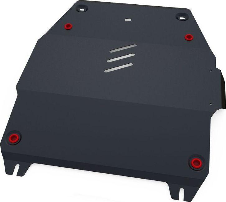 Защита картера и КПП Автоброня Mg 350 2013-/Mg 5 2013-, сталь 2 мм111.08601.1Защита картера и КПП Автоброня для Mg 350 АКПП, V - 1,5 2013-/Mg 5 АКПП, V - 1,5 2013-, сталь 2 мм, комплект крепежа, 111.08601.1Стальные защиты Автоброня надежно защищают ваш автомобиль от повреждений при наезде на бордюры, выступающие канализационные люки, кромки поврежденного асфальта или при ремонте дорог, не говоря уже о загородных дорогах.- Имеют оптимальное соотношение цена-качество.- Спроектированы с учетом особенностей автомобиля, что делает установку удобной.- Защита устанавливается в штатные места кузова автомобиля.- Является надежной защитой для важных элементов на протяжении долгих лет.- Глубокий штамп дополнительно усиливает конструкцию защиты.- Подштамповка в местах крепления защищает крепеж от срезания.- Технологические отверстия там, где они необходимы для смены масла и слива воды, оборудованные заглушками, закрепленными на защите.Толщина стали 2 мм.В комплекте крепеж и инструкция по установке.Уважаемые клиенты!Обращаем ваше внимание на тот факт, что защита имеет форму, соответствующую модели данного автомобиля. Наличие глубокого штампа и лючков для смены фильтров/масла предусмотрено не на всех защитах. Фото служит для визуального восприятия товара.
