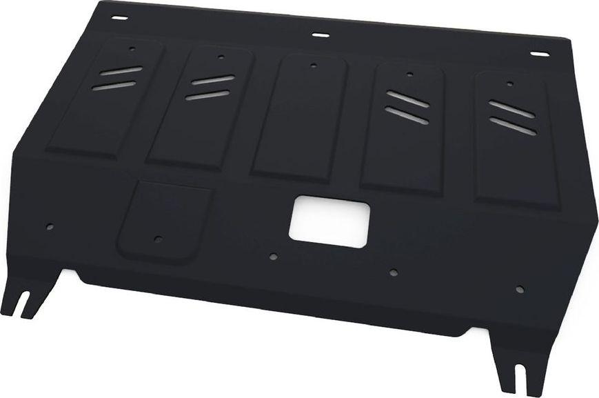 Защита радиатора Автоброня Haval H9 2015-, сталь 2 мм111.09407.1Защита радиатора Автоброня Haval H9,V-2,0T 2015-, сталь 2 мм, комплект крепежа, 111.09407.1Стальные защиты Автоброня надежно защищают ваш автомобиль от повреждений при наезде на бордюры, выступающие канализационные люки, кромки поврежденного асфальта или при ремонте дорог, не говоря уже о загородных дорогах.- Имеют оптимальное соотношение цена-качество.- Спроектированы с учетом особенностей автомобиля, что делает установку удобной.- Защита устанавливается в штатные места кузова автомобиля.- Является надежной защитой для важных элементов на протяжении долгих лет.- Глубокий штамп дополнительно усиливает конструкцию защиты.- Подштамповка в местах крепления защищает крепеж от срезания.- Технологические отверстия там, где они необходимы для смены масла и слива воды, оборудованные заглушками, закрепленными на защите.Толщина стали 2 мм.В комплекте крепеж и инструкция по установке.Уважаемые клиенты!Обращаем ваше внимание на тот факт, что защита имеет форму, соответствующую модели данного автомобиля. Наличие глубокого штампа и лючков для смены фильтров/масла предусмотрено не на всех защитах. Фото служит для визуального восприятия товара.
