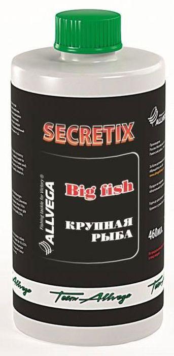 Ароматизатор жидкий Allvega Крупная рыба, 460 мл0057660Aроматизатор Allvega Крупная рыба, обладающий густой консистенцией и клеящим свойством, добавляется в воду для замешивания прикормки (от 10до 25% от используемого объема воды). Ароматизированная вода пропитывает каждую частичку прикормки и придает ей привлекательный запах ванили, корицы и клубники. Такая фруктовая добавка идеально подходит для ловли карпа.Объем: 460 мл.